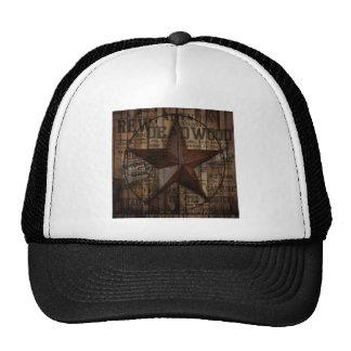 rustic grunge fashion texas star western mesh hat