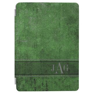 Rustic Grunge Green Book Design iPad Air Cover