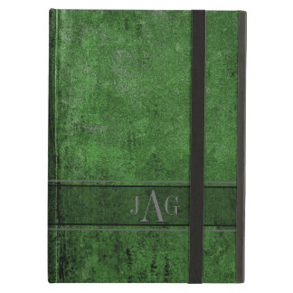 Rustic Grunge Green Book Design iPad Air Cover