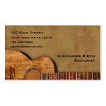 Rustic Guitar Business Card Template