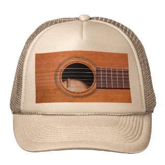 Rustic guitar trucker hats