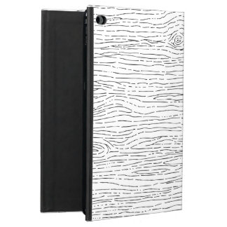 Rustic Hand Drawn Wood Grain Pattern iPad Case