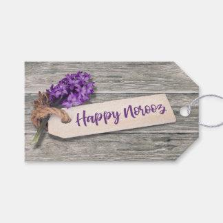 Rustic Happy Norooz Hyacinth - Gift Tag