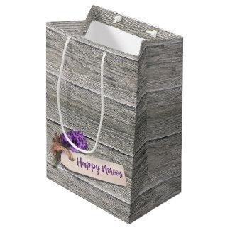 Rustic Happy Norooz Hyacinth - Medium Gift Bag