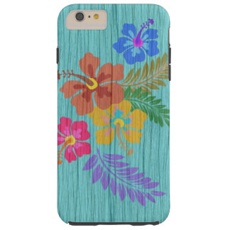Rustic Hawaiian Flowers Print Tough iPhone 6 Plus Case
