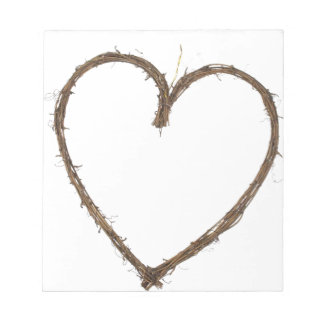 rustic heart notepad