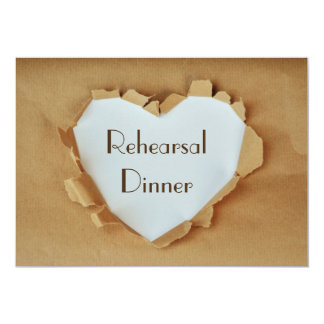 Rustic Heart  Wedding Rehearsal Dinner Card
