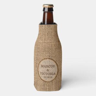 Rustic Hessian Country Wedding Bottle Cooler