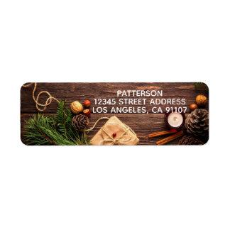 Rustic Holiday Return Address Labels