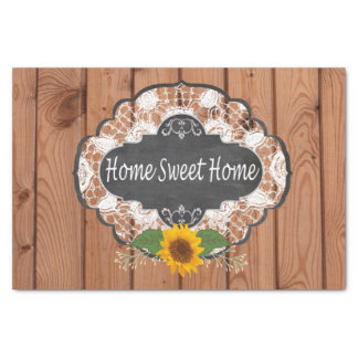 Rustic Home Sayings Design Tissue Paper