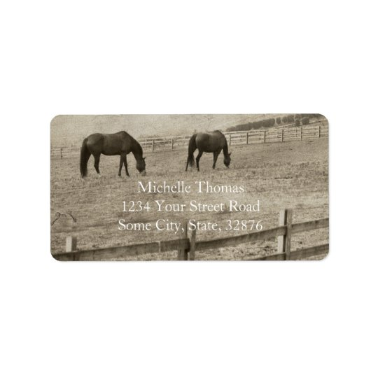 Rustic Horse Farm Label
