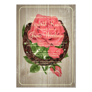Rustic Horseshoe Wedding Invitations