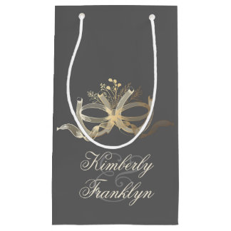 rustic horseshoes couple country wedding small gift bag