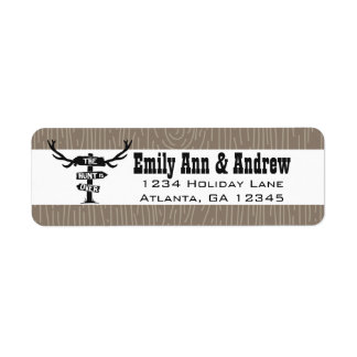 Rustic Hunt is Over Barnwood Return Address Return Address Label
