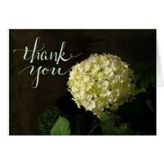Rustic Hydrangea Photo Thank You Card