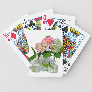 Rustic hydrangeas bicycle playing cards