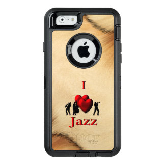 Rustic I Heart Jazz OtterBox Defender iPhone Case