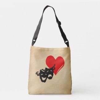 Rustic I Heart Theater Crossbody Bag