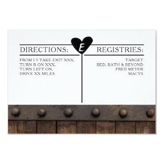 Rustic Industrial Wedding Details Card