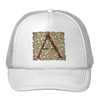 Rustic Initial Letter A Trucker Hat