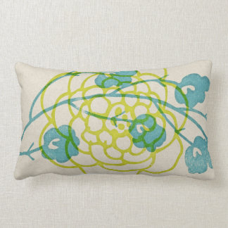 rustic inky floral graphic pillow