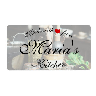 Rustic Kitchen Cook Labels