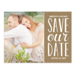 Rustic Kraft Paper | Photo Save the Date
