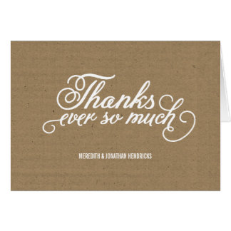 Rustic Kraft Paper Thank You Card