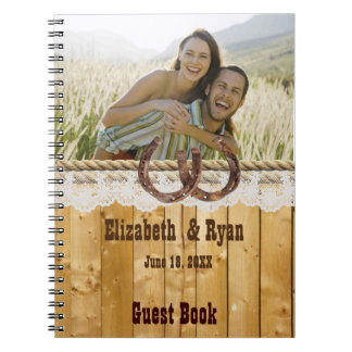 Rustic, Lace and Horseshoes, Guest Book