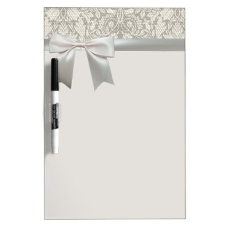 Rustic Lace and Linen Vintage Modern Dry Erase Board