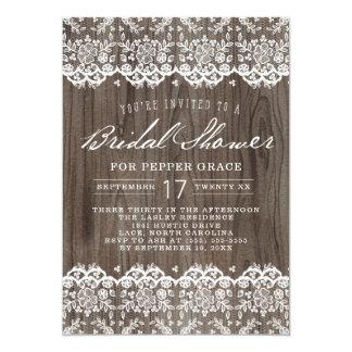 Rustic Lace Bridal Shower Invitations