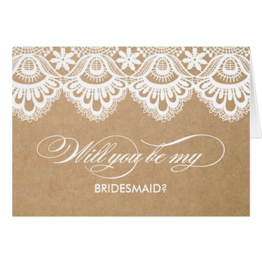 RUSTIC LACE | BRIDESMAID CARDS