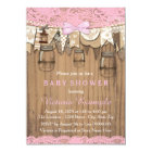 Rustic Lace Mason Jar Baby Shower Card
