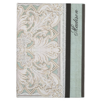 Rustic Lace w Aged Vintage Linen Country Elegance iPad Air Cases