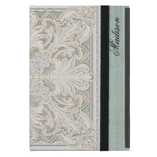 Rustic Lace w Aged Vintage Linen Country Elegance iPad Mini Cover