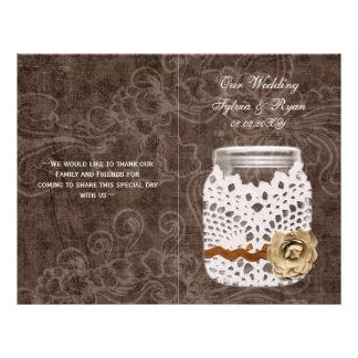 Rustic Lace Wrapped Mason Jar Wedding 21.5 Cm X 28 Cm Flyer