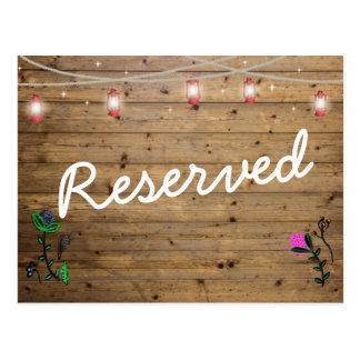 Rustic Lantern Lights Reserved Seats Card