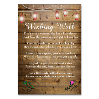 Rustic Lantern Lights Wishing Well Card