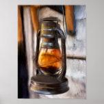 Rustic Lantern Poster