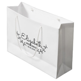 Rustic Laurels Personalized Bridesmaids Large Gift Bag