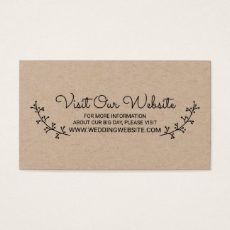 Rustic Laurels Wedding Website Business Card