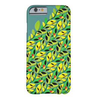 Rustic Leaf Vine Pattern Barely There iPhone 6 Case