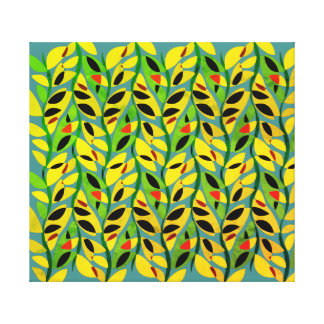 Rustic Leaf Vine Pattern Canvas Print