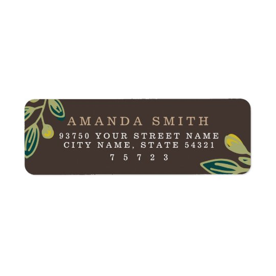 Rustic Leaves Return Address Label