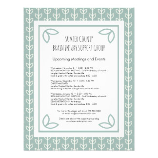 Rustic Leaves Support Group Newsletter Flyer