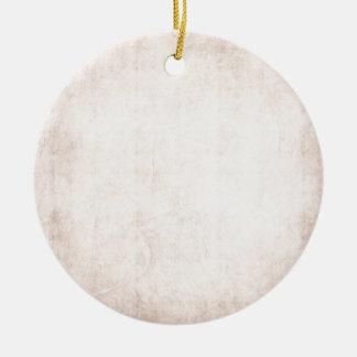 Rustic Light Apricot Round Ceramic Decoration