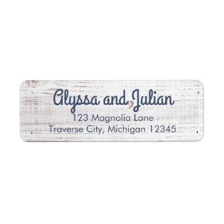 Rustic Light Wood Address Labels