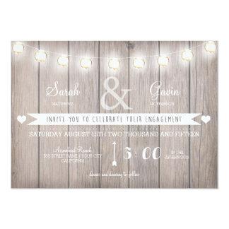 Rustic Lights Engagement Invitation