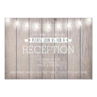 RUSTIC LIGHTS - RECEPTION CARD 9 CM X 13 CM INVITATION CARD