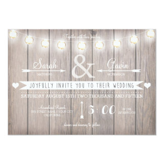 Rustic Lights Wedding Invitation
